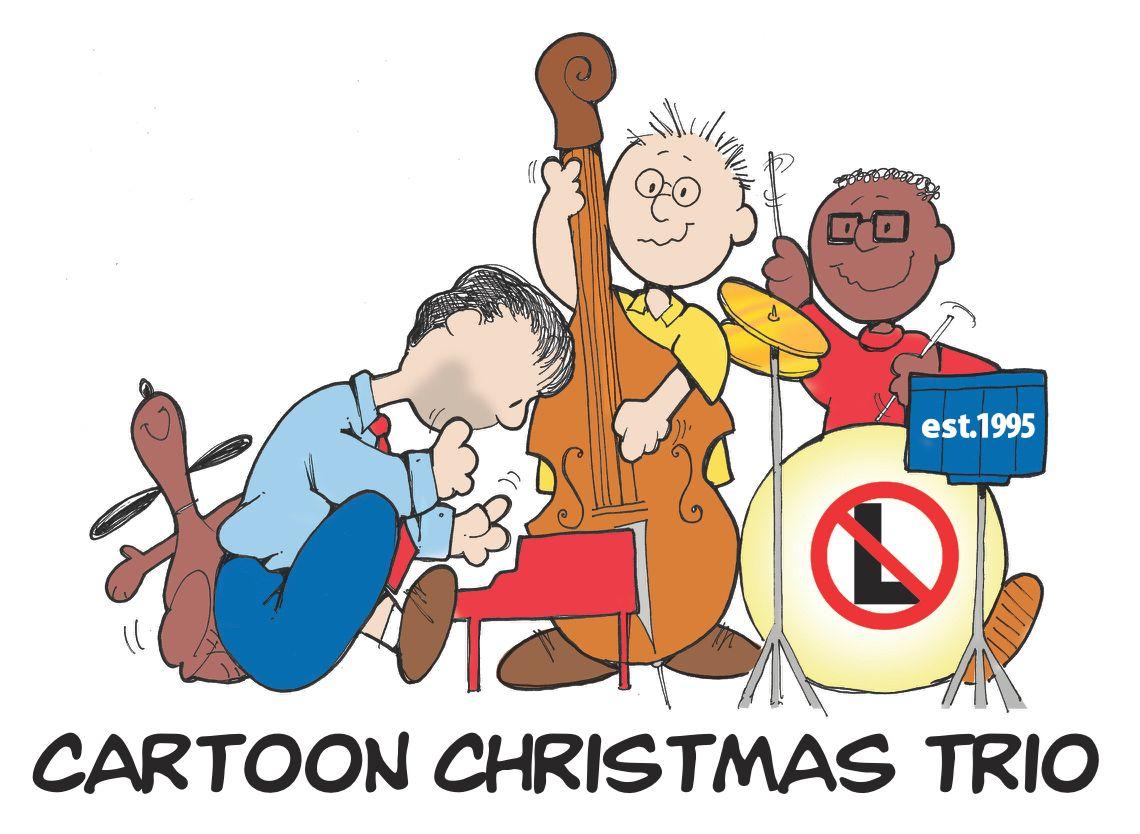 Cartoon Christmas Trio illustration