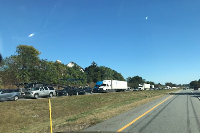 Truck fire closes 283 westbound, 10/4/19