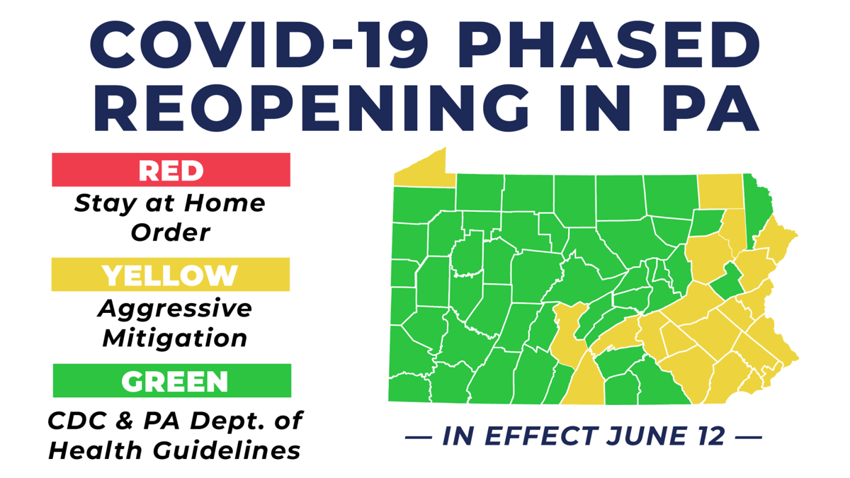 yellow green reopening in effect June 12