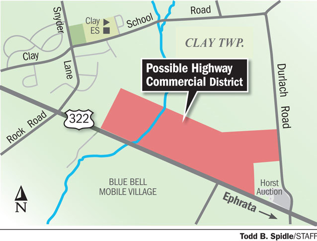 Clay Township eyes new commercial district along Route 322