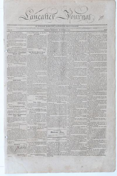 Front page - 1815