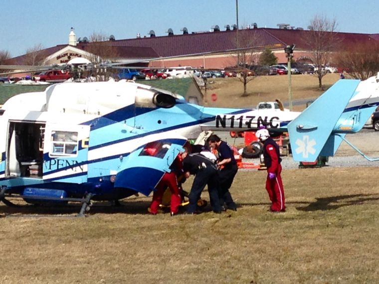 Shady Maple Smorgasbord fire victim transported in helicopter