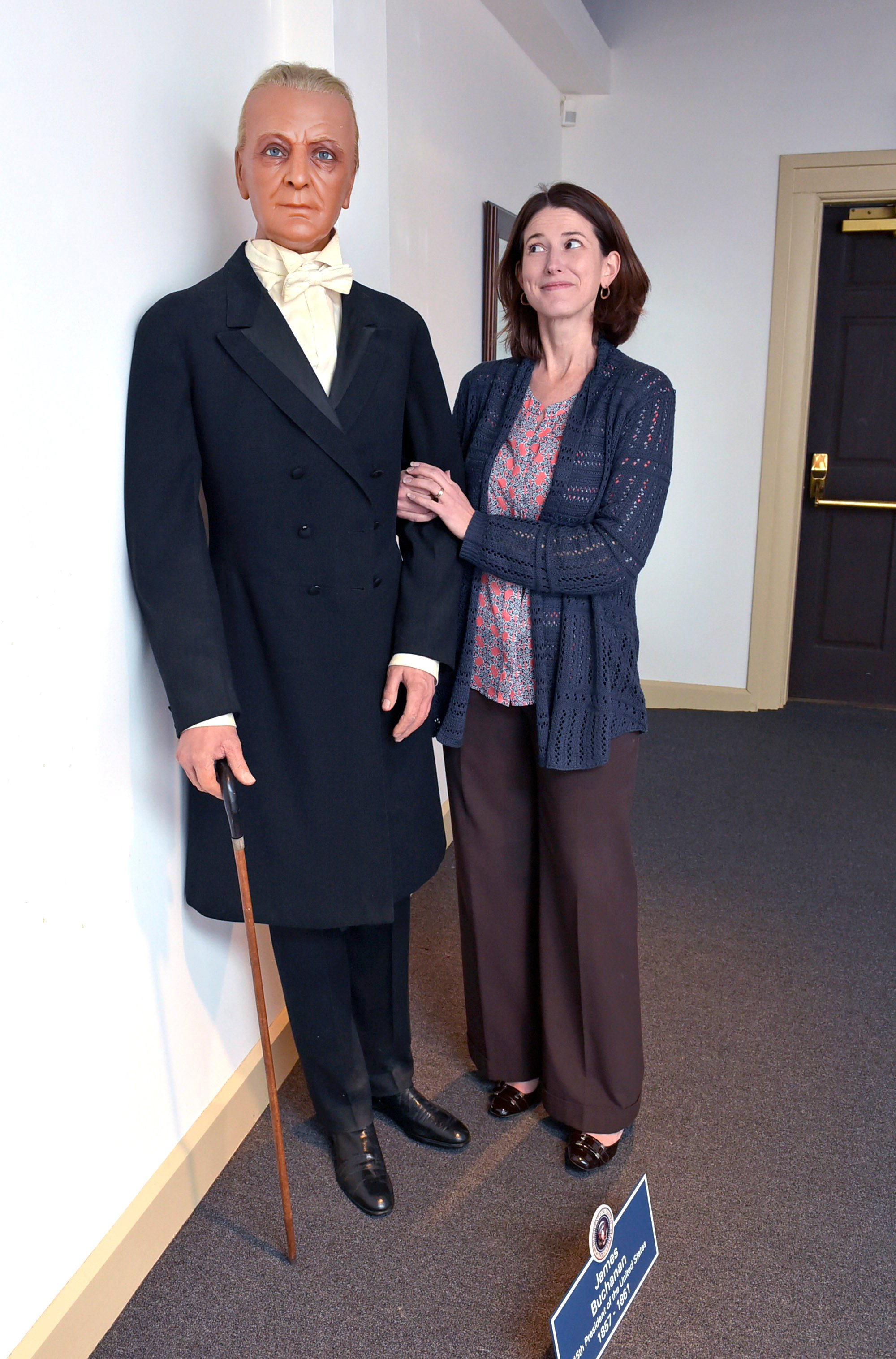Wax figure of James Buchanan comes home to Wheatland after winning ...