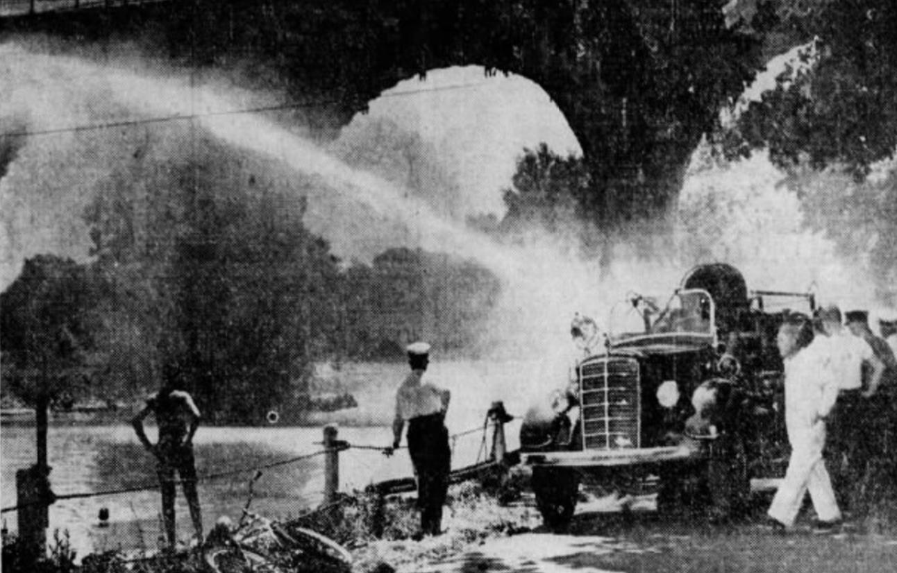 Fire truck test, 1946