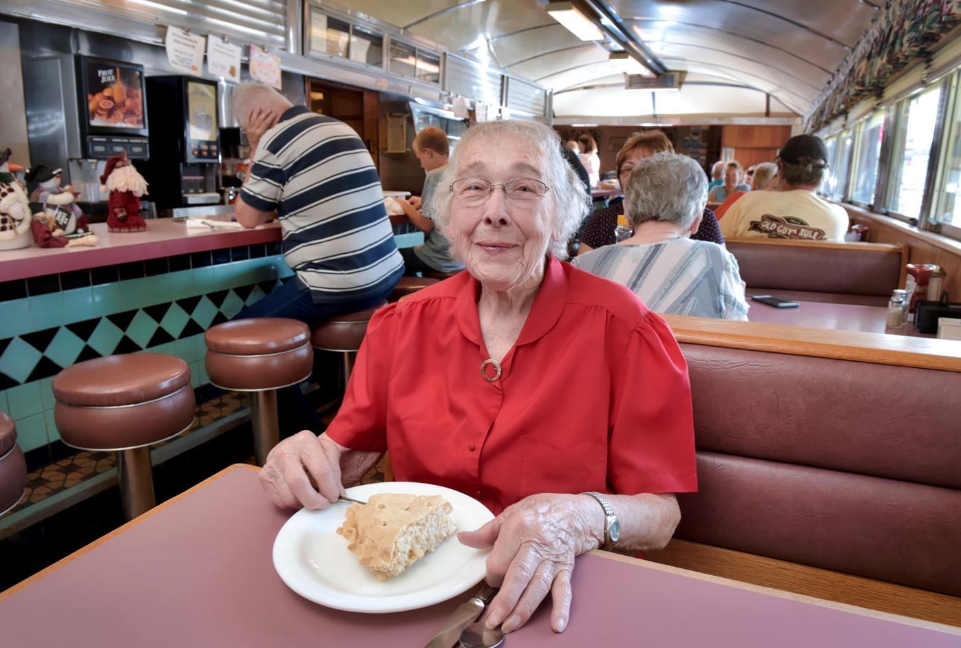Elva Stauffer and corn pie