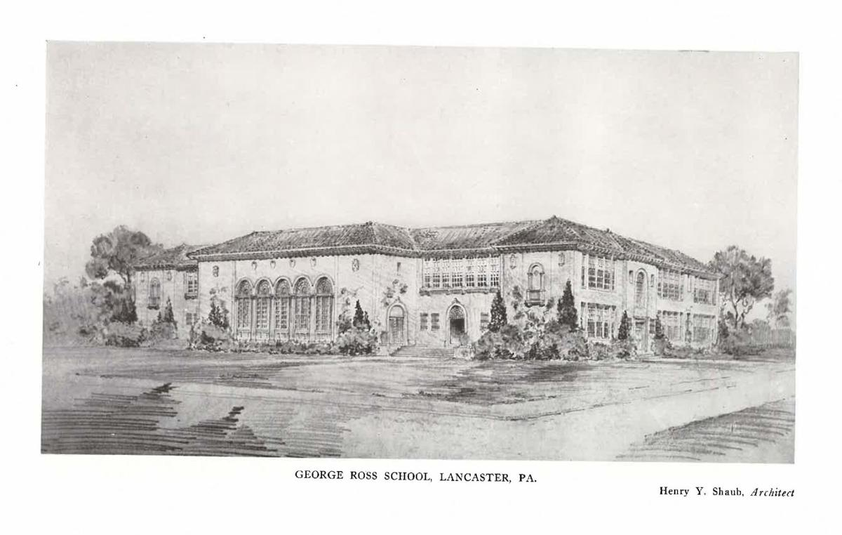 George Ross Elementary sketch by Henry Y Shaub