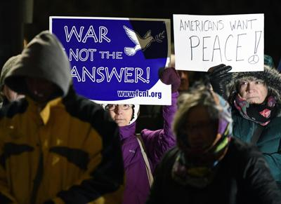 No War with Iran Rally-Penn Square