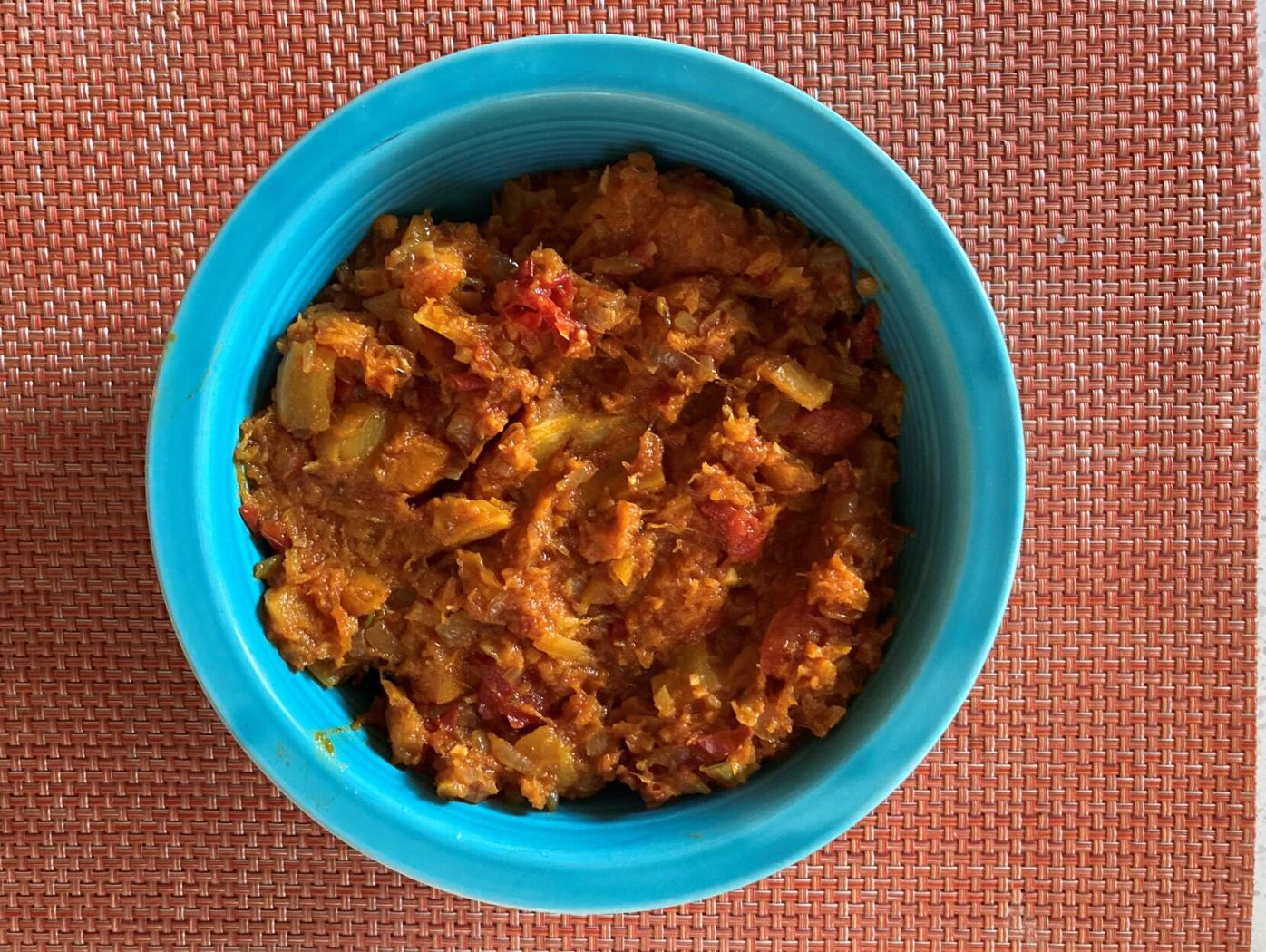 Winter squash bharta