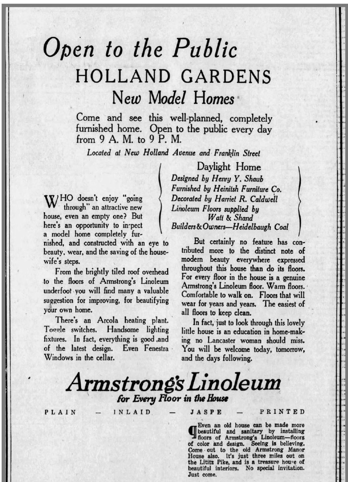 Holland Gardens ads