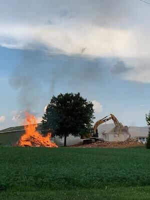 Open Burn Earl Township