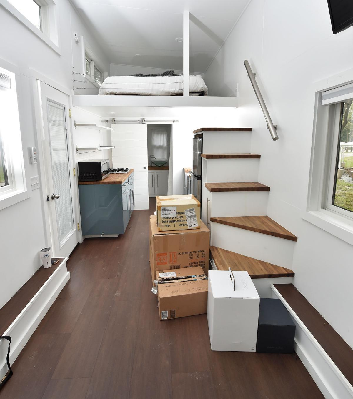 Kevin Hart brings Lancaster tiny house to NYC [photos]   Local News on mobile home loft, design loft, california loft, cozy loft, prefab loft, rv loft, small loft, diy loft, micro house with loft, off-grid homes with loft,
