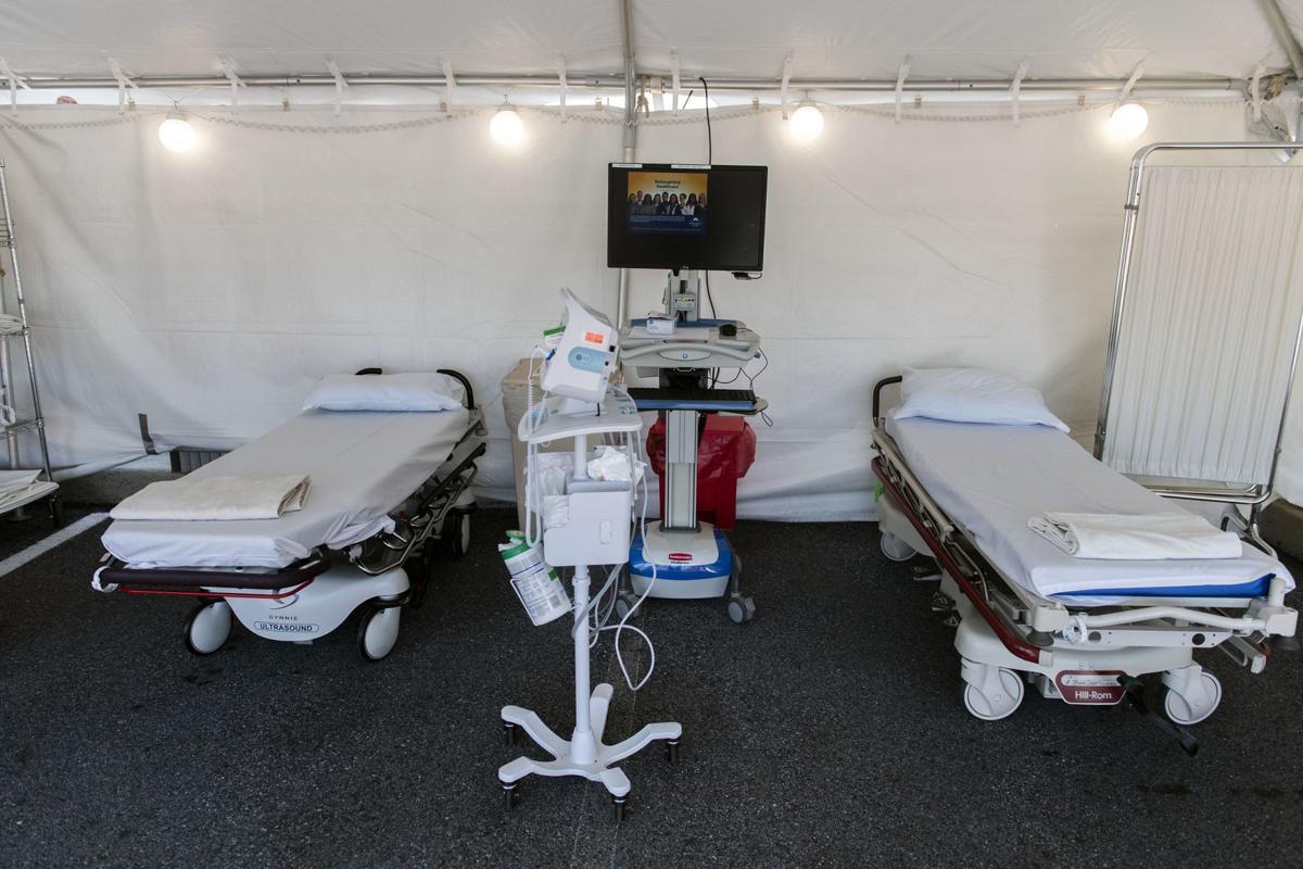 Coronavirus screening center in Ephrata
