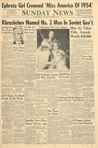 front page 1953