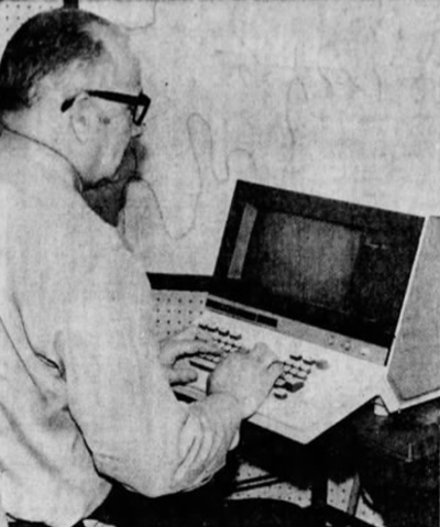 Police computer system, 1971