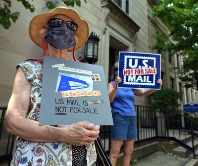 Postal Service Protest in Lancaster
