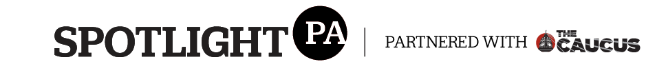 Spotlight PA logo (partnered with caucus)