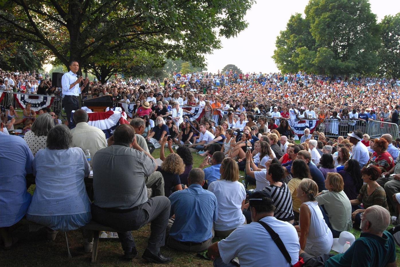 Barack Obama in Buchanan Park