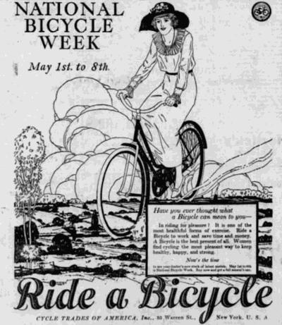 National Bicycle Week 1920