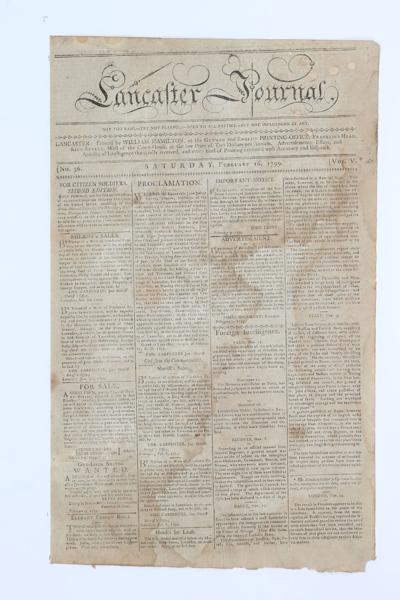 Front page 1799