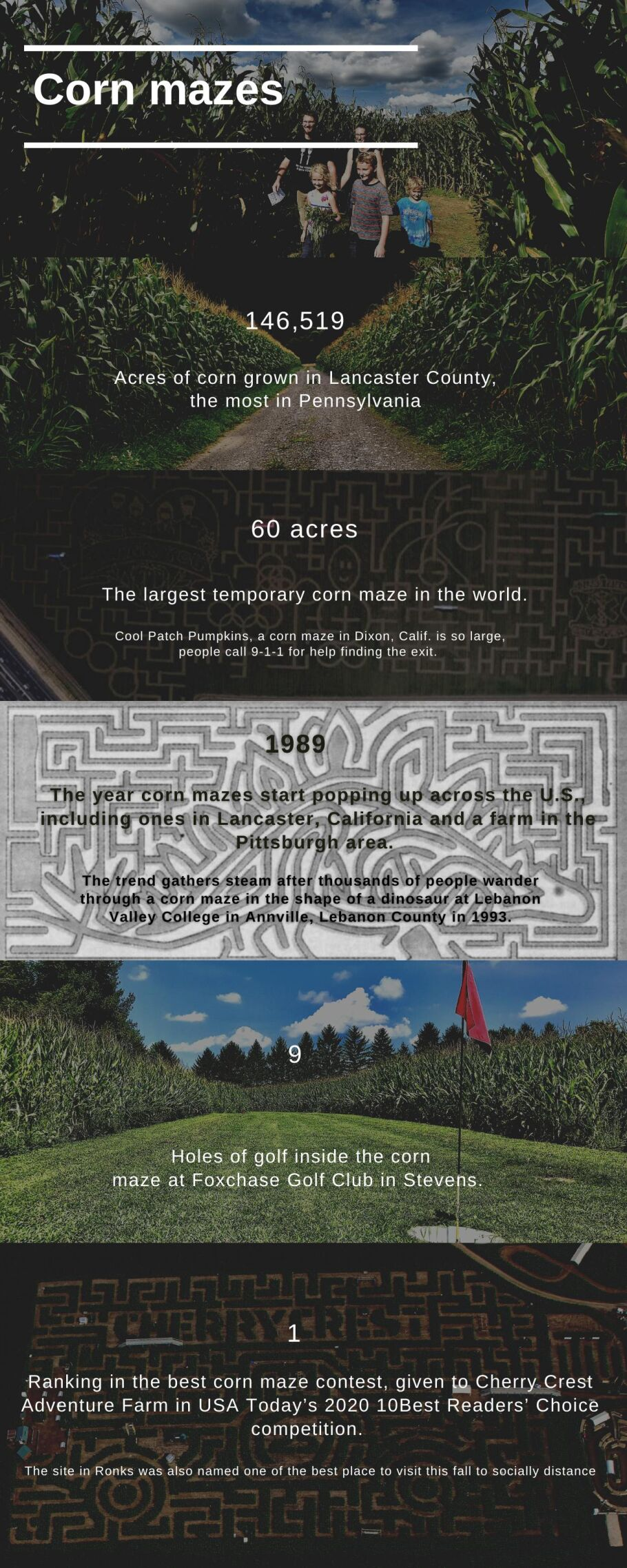 Corn Mazes: By the Numbers