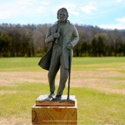 Thaddeus Stevens Gettysburg statue together S20.jpg