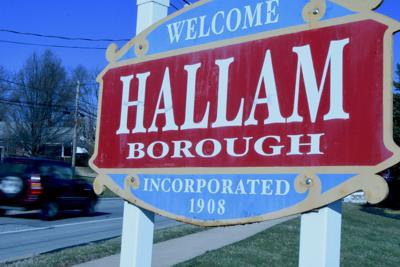 Hallam borough sign, York County