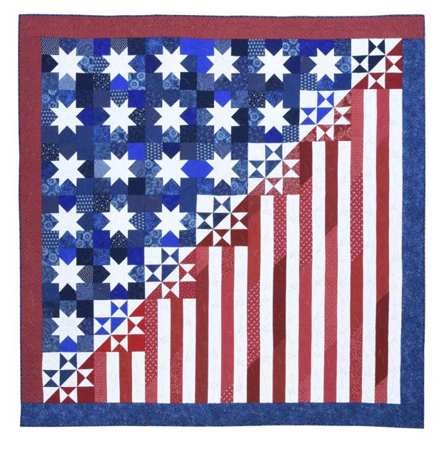 Stars Stripes Pieced By Kelly Harvey From Quilts Of Valor 50 State Salute Jpg Lancasteronline Com