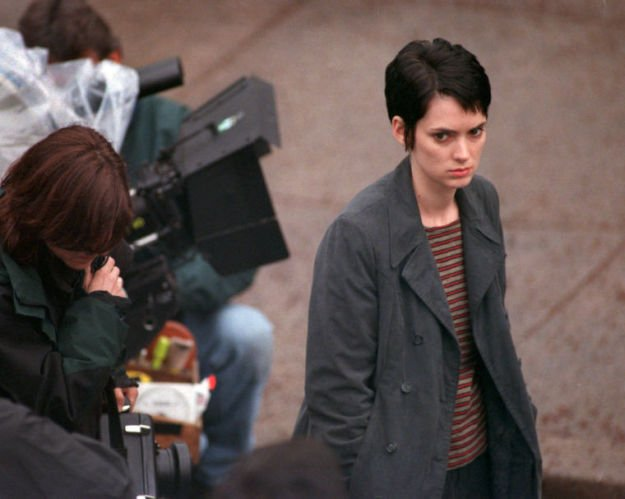 Winona Rider filming 'Girl Interrupted' in Lancaster