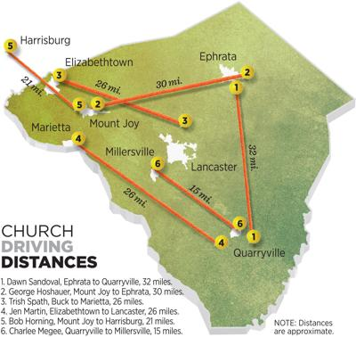 Church Driving Distances U29