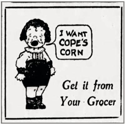 Cope's Corn ad
