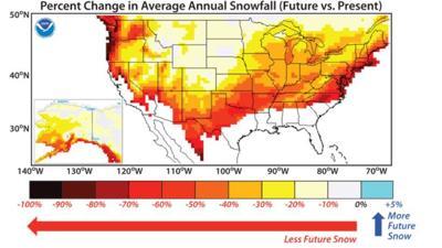 Pennsylvania Adopts Climate Change Action Plan Citing Predictions Of - Average-snowfall-us-map