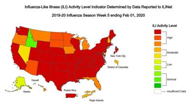 Cdc Us Flu Map Flu resurges in Pa., with almost 24,000 cases and 14 deaths in