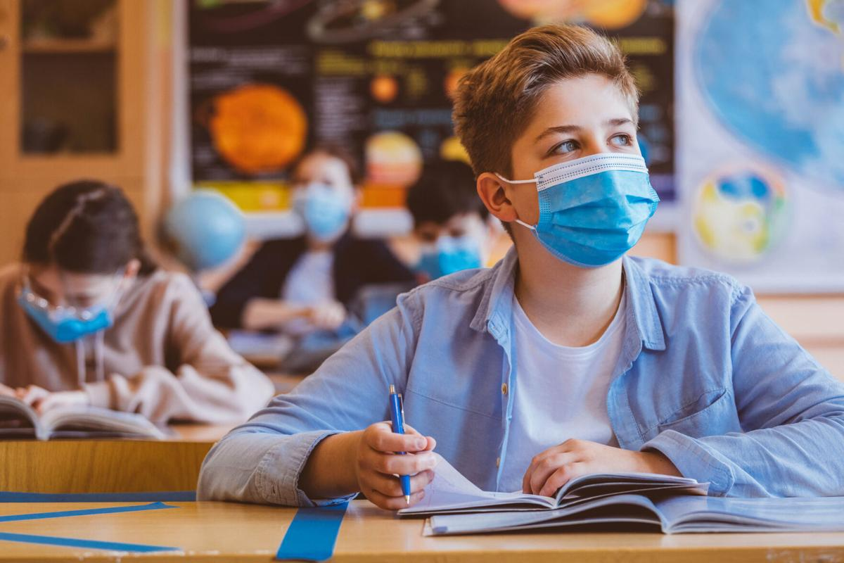 health covid masked student