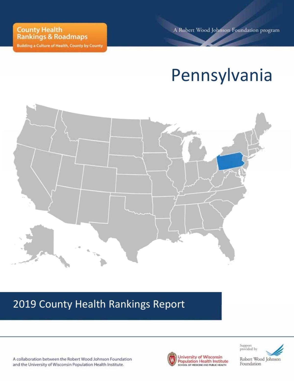 2019 Pennsylvania health rankings