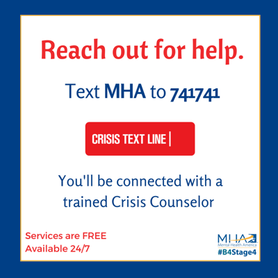 Free Mental Health Crisis Counseling Now Available Via Text Local