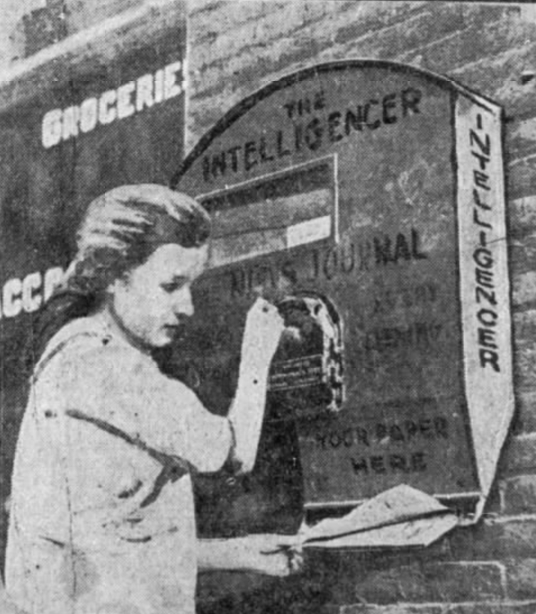 Newspaper boxes 1920