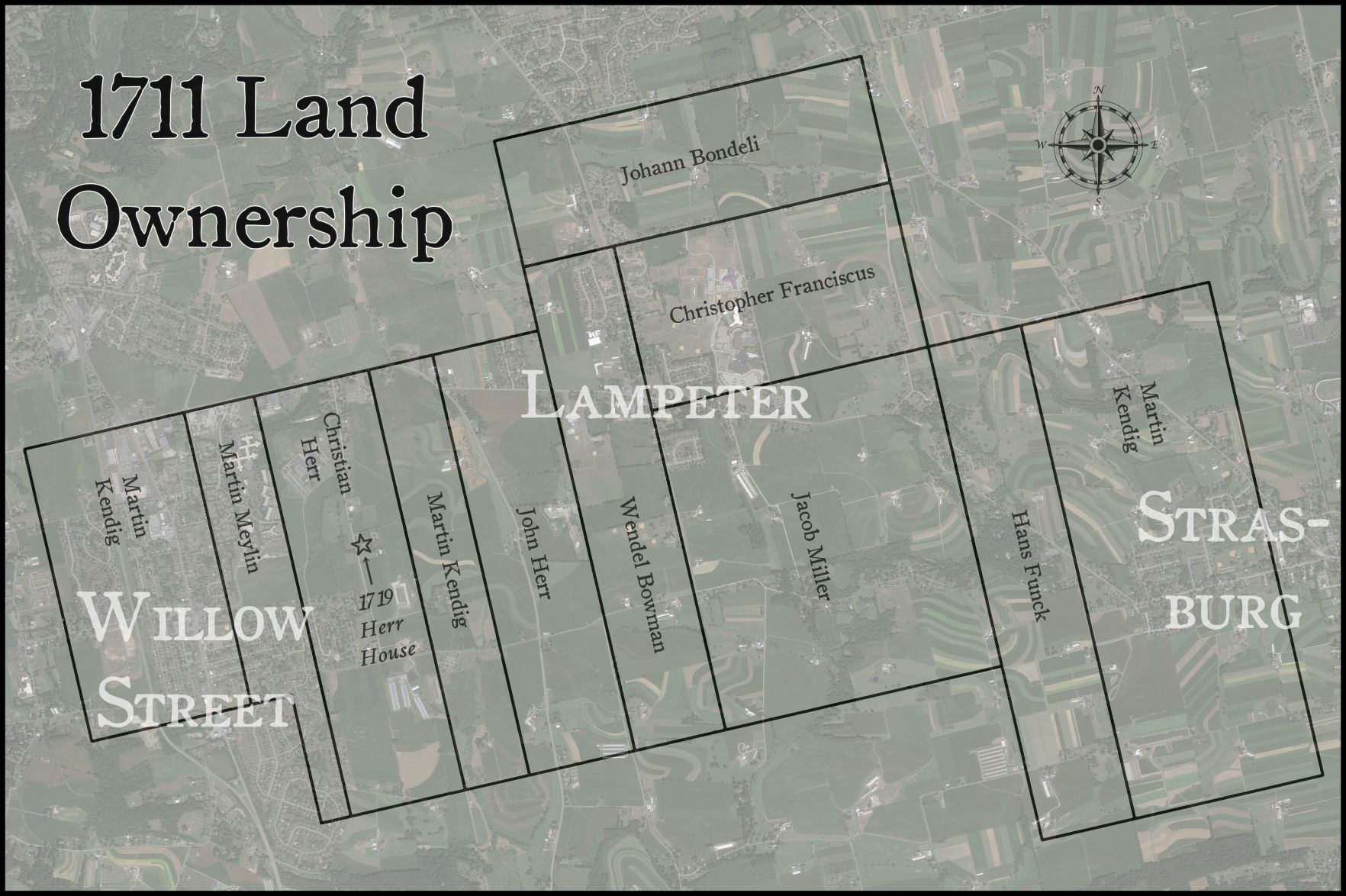 Who were the first settlers to Lancaster