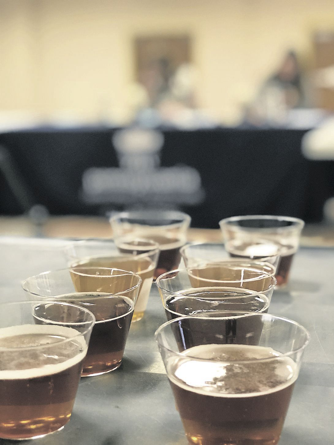 Craft beer samples farm show