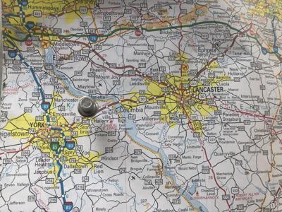 Hellam Twp., York County, map