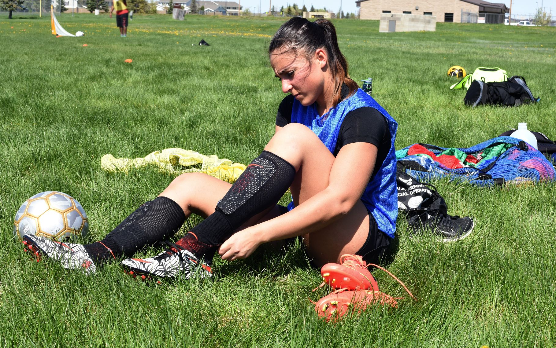Cleats and heavy running can trigger