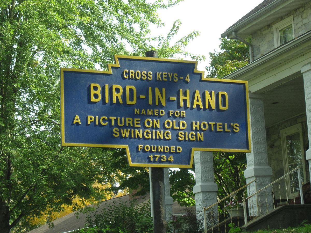 Bird-In-Hand sign