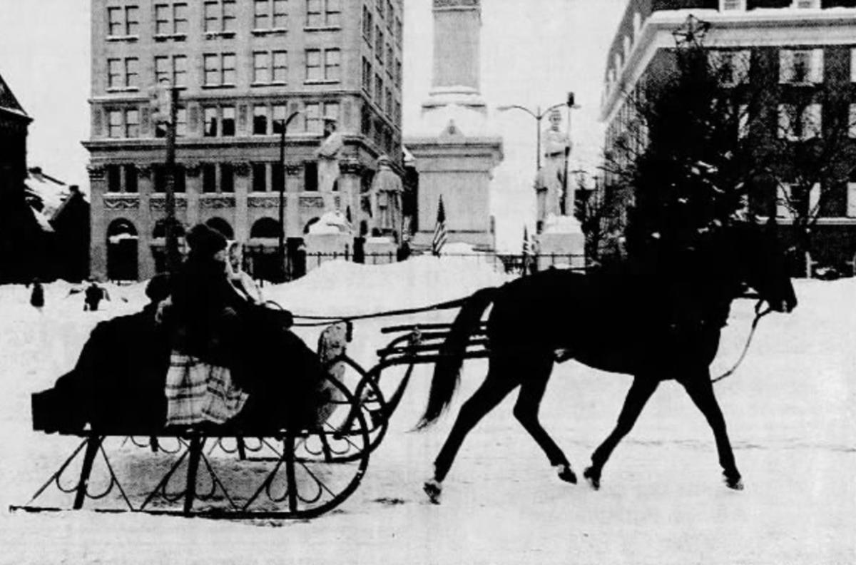 sleigh in Penn Square, 1996