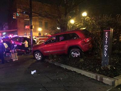 Hit and run SUV vs. Jeep at Queen and Vine