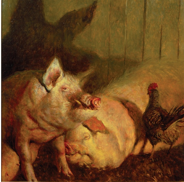 Images Of Pig Paintings