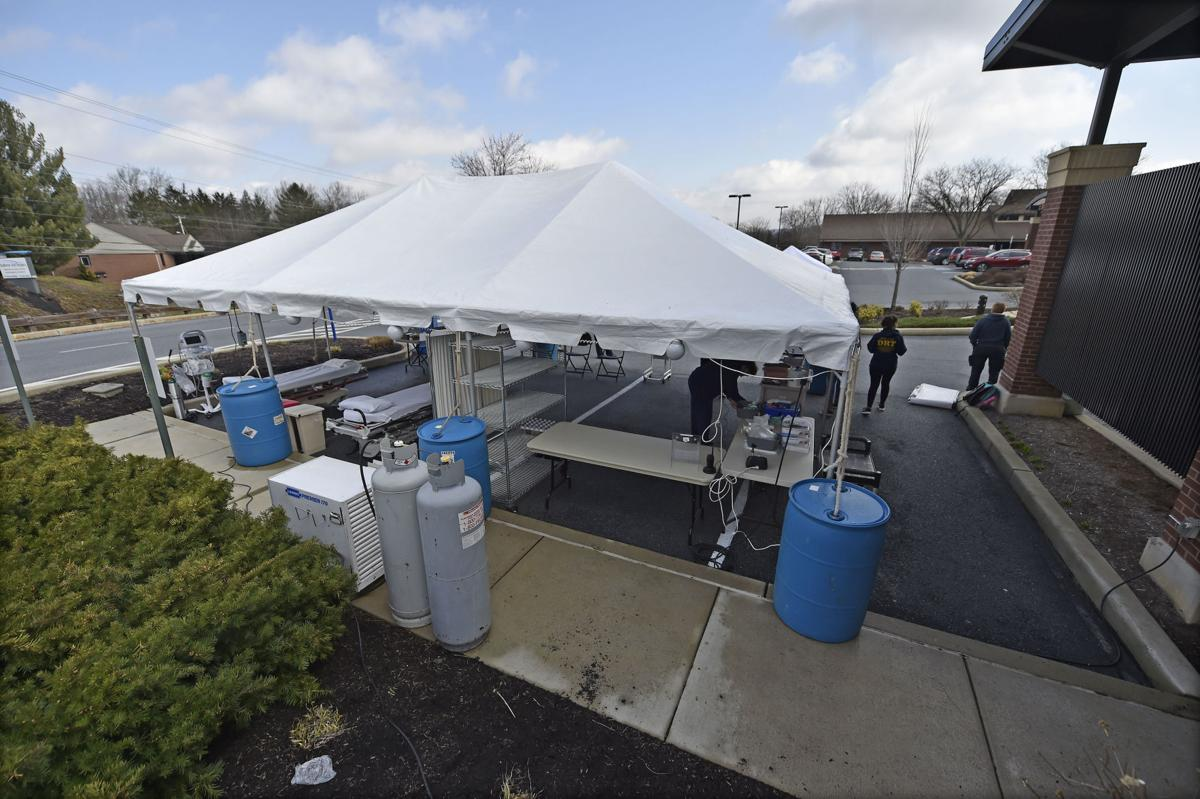 Wellspan Ephrata Covid19 Testing Tent
