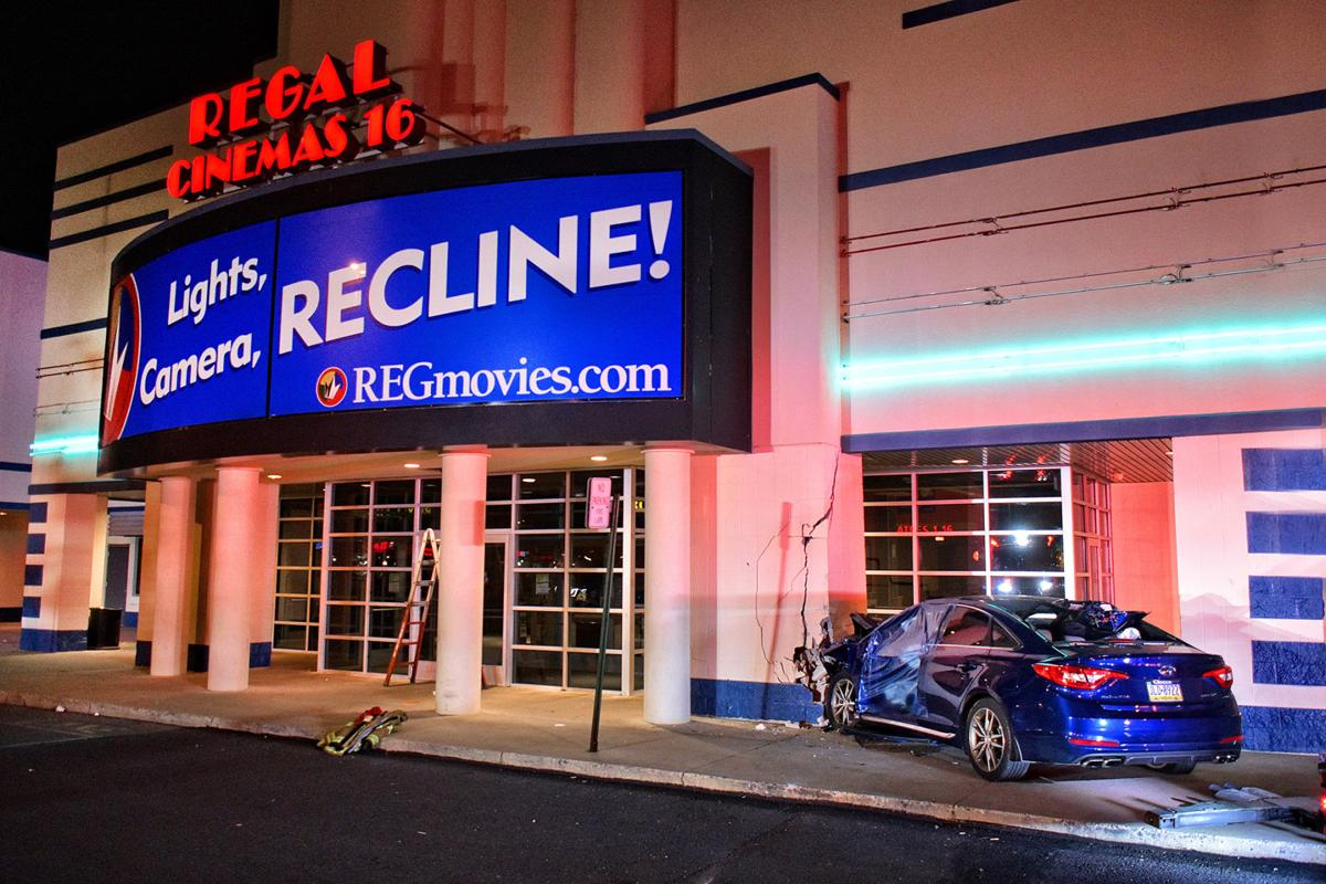 driver travels length of parking lot smashes into regal cinemas at manor shopping center local news lancasteronline com smashes into regal cinemas at manor