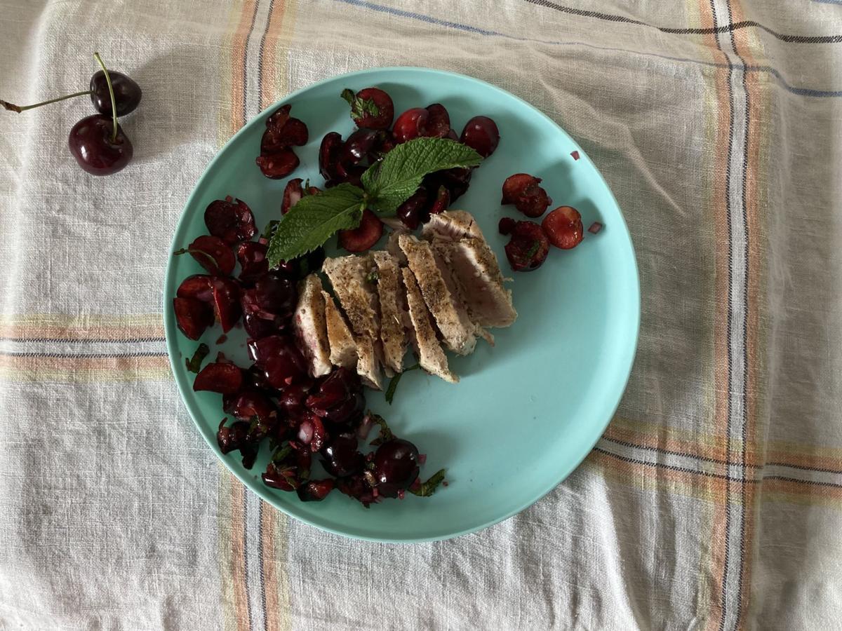Cherry salsa fish