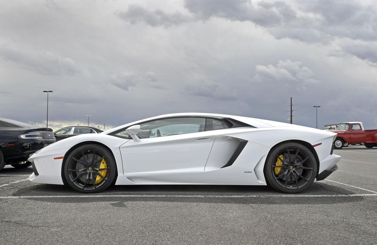 Car Drives Through Auto Auction