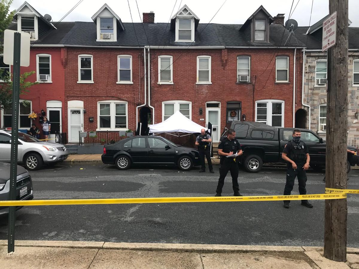 Lancaster city shooting scene