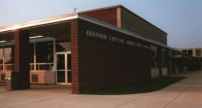 Lincoln Middle School stock photo
